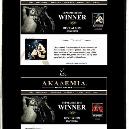 """RAVENSKÜL Best Album Heavy Metal and """"Hailsa"""" Best Song Heavy Metal for September 2018"""